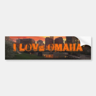 I Love Omaha Bumper Sticker