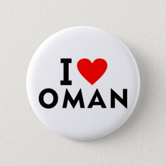 I love Oman country like heart travel tourism 2 Inch Round Button