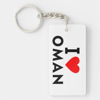 I love Oman country like heart travel tourism Keychain