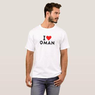 I love Oman country like heart travel tourism T-Shirt