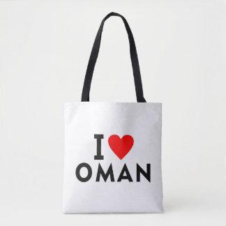 I love Oman country like heart travel tourism Tote Bag