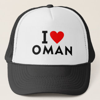 I love Oman country like heart travel tourism Trucker Hat