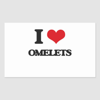 I Love Omelets Rectangle Sticker