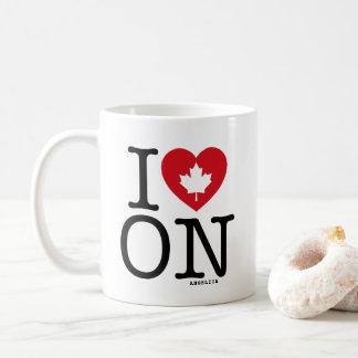 I Love ON   I Heart Ontario Canada Custom Mug