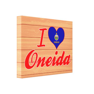 I Love Oneida, Kansas Canvas Prints
