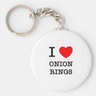 I Love Onion Rings Keychain