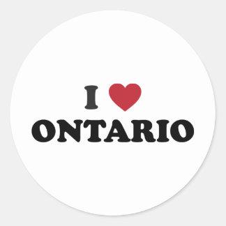 I Love Ontario Classic Round Sticker