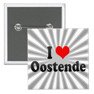 I Love Oostende, Belgium 2 Inch Square Button
