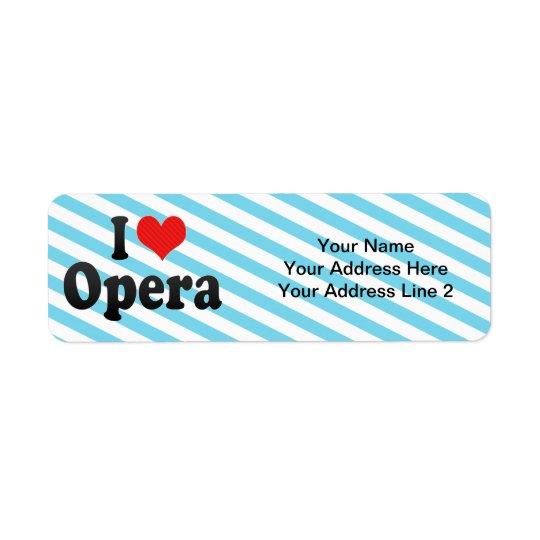 I Love Opera Return Address Label