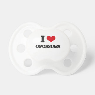 I Love Opossums BooginHead Pacifier