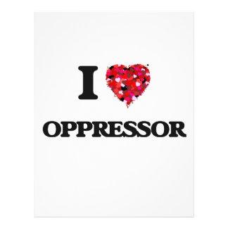 I Love Oppressor Flyer Design