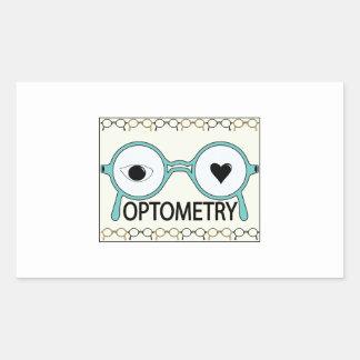 I Love Optometry Rectangular Sticker
