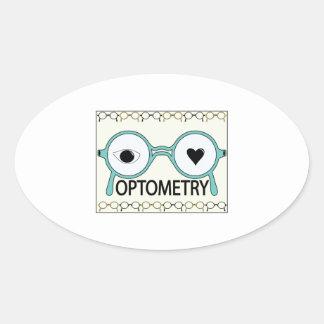 I Love Optometry Oval Sticker