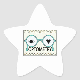 I Love Optometry Star Sticker