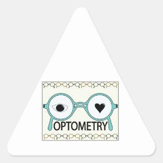 I Love Optometry Triangle Stickers