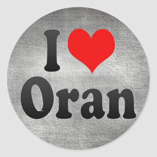 I Love Oran, Algeria Classic Round Sticker
