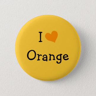 I Love Orange 2 Inch Round Button