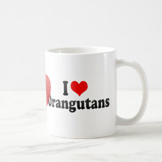 I Love Orangutans Coffee Mug