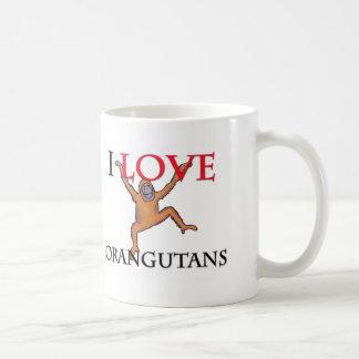 I Love Orangutans Coffee Mug