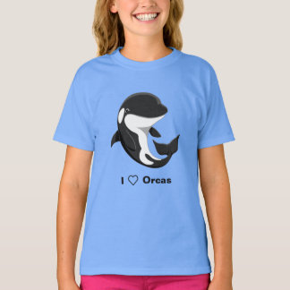 I Love Orcas Cute Killer Whale T-Shirt