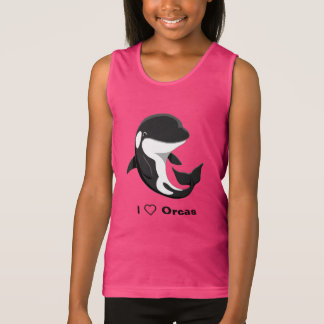 I Love Orcas Cute Killer Whale Tank Top