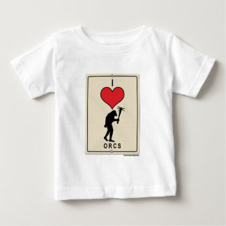 I Love Orcs Baby T-Shirt
