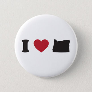 I Love Oregon 2 Inch Round Button