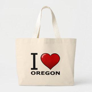 I LOVE OREGON LARGE TOTE BAG