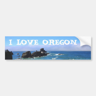 I Love Oregon Seal Rock Bumper Sticker