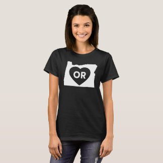 I Love Oregon State Women's Basic T-Shirt