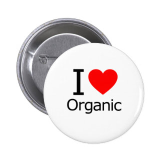 I Love Organic 2 Inch Round Button