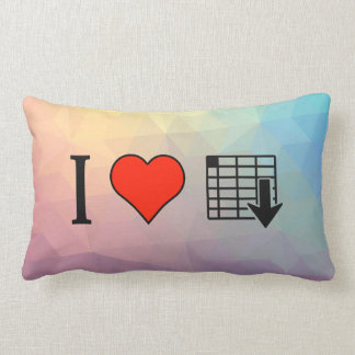 I Love Organizing Spreadsheets Pillow
