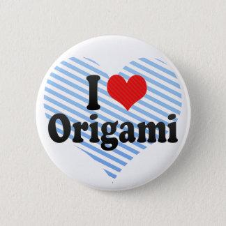 I Love Origami 2 Inch Round Button