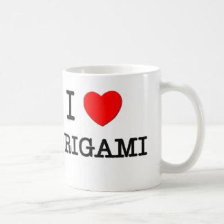 I LOVE ORIGAMI COFFEE MUG