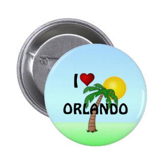 I Love Orlando 2 Inch Round Button
