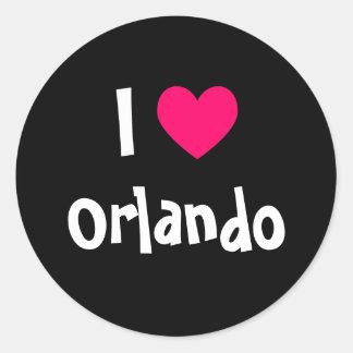 I Love Orlando Classic Round Sticker