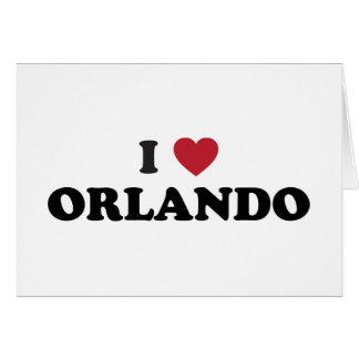 I Love Orlando Florida Card