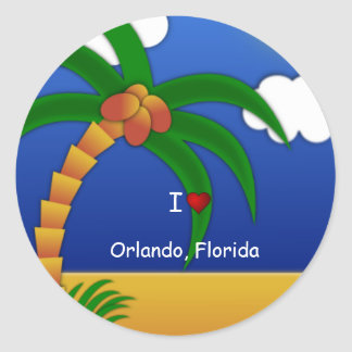 """I Love Orlando, Florida"" decorative sticker"