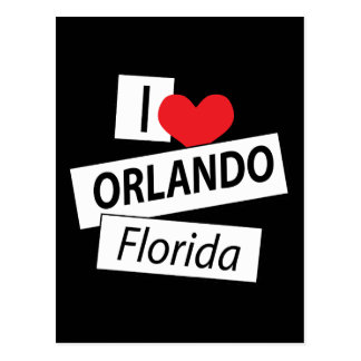 I Love Orlando Florida Postcard