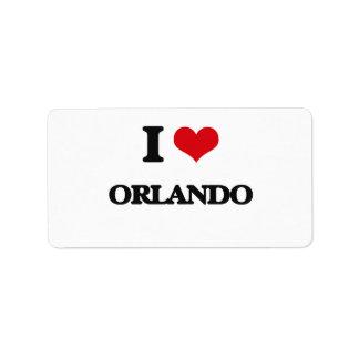 I Love Orlando Address Label