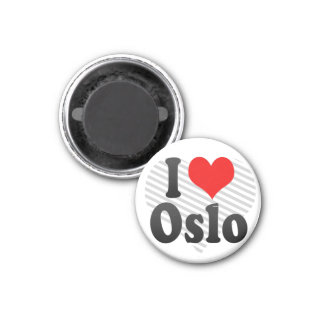I Love Oslo, Norway Magnet