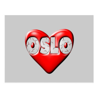 I Love Oslo Norway Postcard