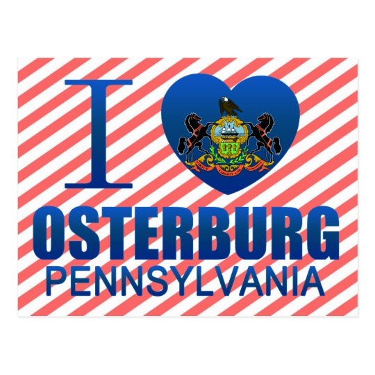 I Love Osterburg, PA Postcard