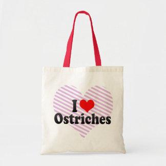 I Love Ostriches Tote Bag