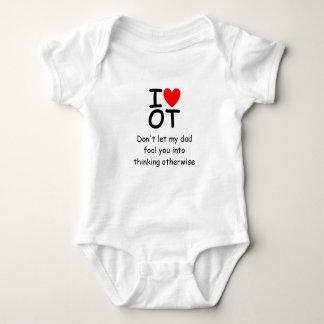 I Love OT onsie Baby Bodysuit