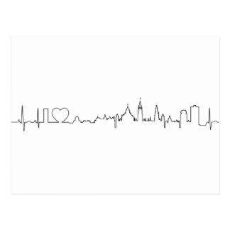 I love Ottawa in an extraordinary ecg style Postcard