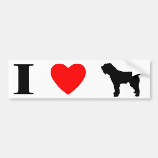I Love Otterhounds Bumper Sticker