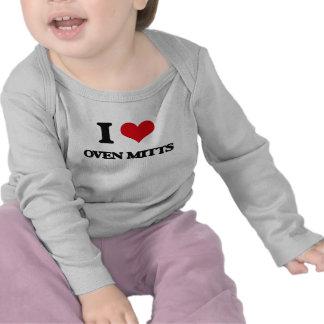 I Love Oven Mitts Tshirts
