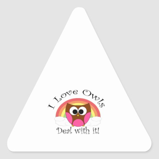I love owls deal with it stickers