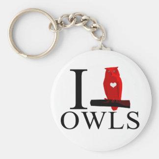 I Love Owls Keychains